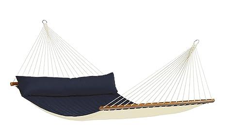 LA SIESTA - North American Estilo Varilla Hamaca Extragrande ALABAMA marina azul