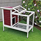 "Petsfit 36""L x 20""W x 30""H Rabbit Hutch,Bunny Cage,Bunny Hutch Wood for Indoor Use"