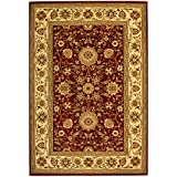 Safavieh Lyndhurst Collection LNH212F Red and Ivory Area Rug, 6 feet by 9 feet (6' x 9')