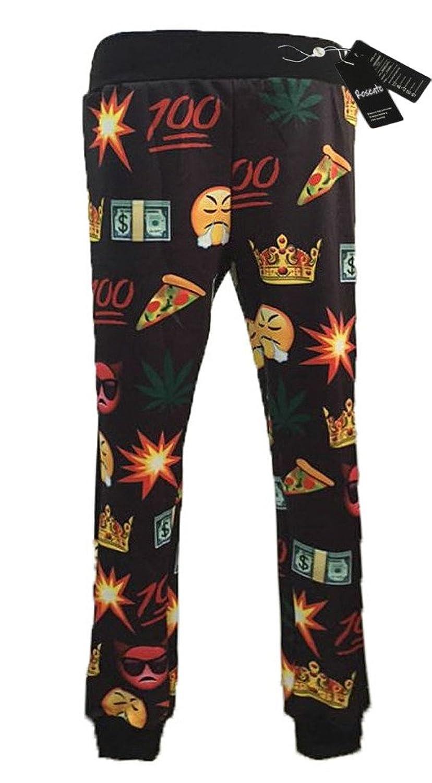 Roseate Unisex 3D Emoji Black Sweatpants Joggers Cool Running Pants XS mens joggers 2017 brand male trousers men pants casual pants sweatpants jogger black xxxl adbbb