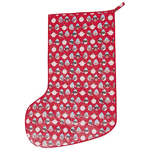 JoJo Maman Bebe Giant Christmas Stocking, Red Robin