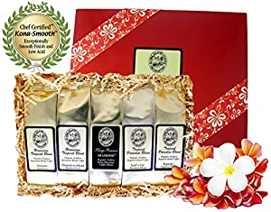 Voted Best Coffee Gift, Kona Hawaiian Gourmet Coffee Gift for Birthdays, Holidays and All Occasions, Ground Coffee, Brews 60 Cups