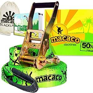 Macaco Slackline - 16m Long, 50mm Wide (Inc. Carry Bag)
