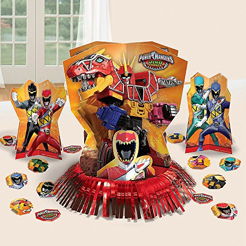 Amscan Power Rangers Dino Charge Birthday Party Assorted Table Decorating Kit (23 Pack), 12.5