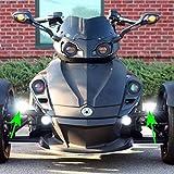 カスタム ダイナミクス Custom Dynamics ドライビングライト LED カンナム スパイダー 2001-0654 SPY-CMBB-B