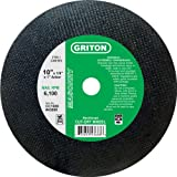 Cyber sale Griton CC1088 Arbor Industrial Cut Off Wheel for Cutting Masonry Used on Stationary Saws, 1.0″ Hole Diameter, 10″ Diameter, 1/8″ Width (Pack of 10)