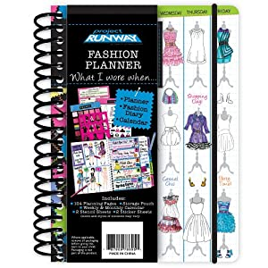 Project Runway Fashion Planner Daily Calendar What I Wore When Toys Games