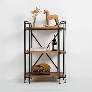 Book Jia librerie Retro scaffalature in legno massiccio scaffali personalizzati ferro da stiro rack industriali