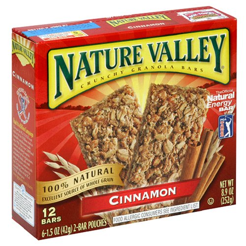 Nature Valley Crunchy Granola Bars, Cinnamon, 12-Count Boxes (Pack of 6)