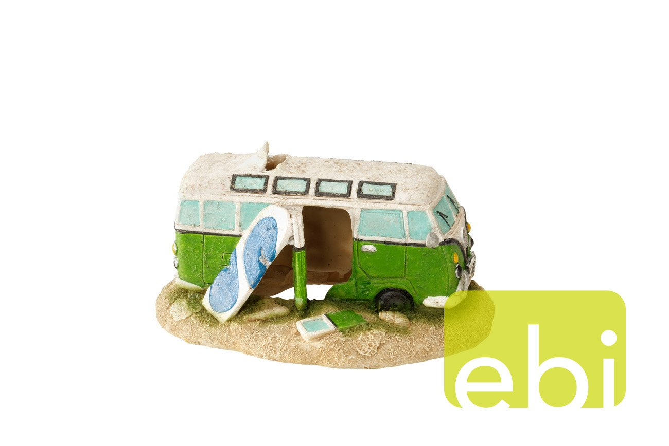 Aqua Della Camper-Van Decoration Ornament, 16.5 x 10.5 x 9cm