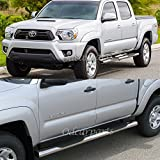 """VioGi Fit:05-14 Toyota Tacoma Double/Crew Cab (w/ 4 Full Size Doors) 5"""" S/S Oval Side Step Rails Nerf Bar Running Boards"""