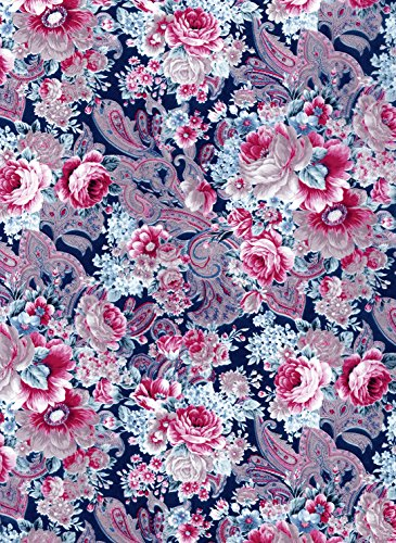 """Decoupage Paper Mache """"Vintage Blue Pink Flowers And Paisley 592"""""""