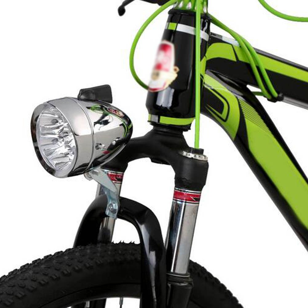 Zimo®Vintage Retro Bicycle Bike Front Light Lamp 7 LED Fixie Headlight with Bracket 5