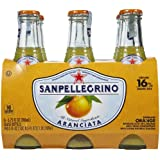 San Pellegrino Sparkling Beverage, Aranciata, 6 Ounce (Pack of 6)