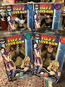 Complete set of KISS LOVE GUN 24-inch mega-tall dolls from Spencer's