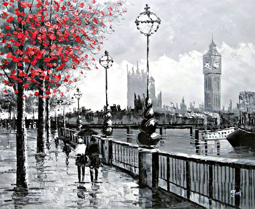 view-of-london-big-ben-from-the-south-bank-by-the-river-thames-large-fine-art-oil-on-canvas-painting