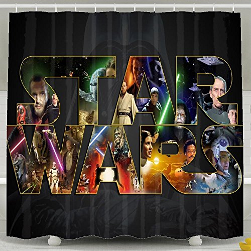 Cool Star Wars Movie Wallpaper Shower Curtains 7272inch Polyester Waterproof (Transformer Bullet compare prices)