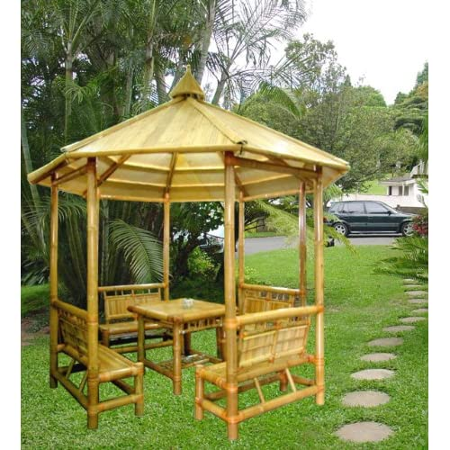 bambus pavillon garten pavillon mit sitzgruppen. Black Bedroom Furniture Sets. Home Design Ideas