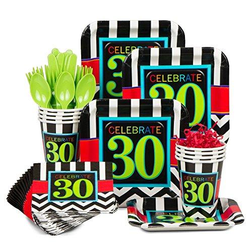 Chevron Mix 30Th Birthday Standard Kit (Serves 8)