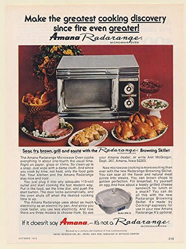 1973 Amana Radarange Microwave Oven Make The Greatest Cooking Discovery Print Ad (Memorabilia) (60832)
