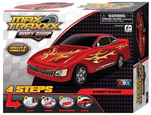 Max Traxxx Award Winning Body Shop PerfectCast Street Racer Car Craft Kit - 1
