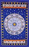 Horoscope Tapestry, Indian Hippie Wall Hanging , Bohemian Bedspread, Mandala ...