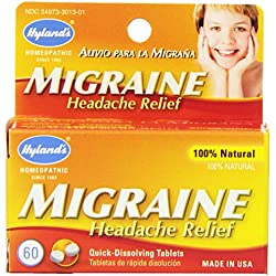 Hyland's Migraine Headache Relief Tablets, Natural Migraine Relief, 60 Count (Pack of 4)
