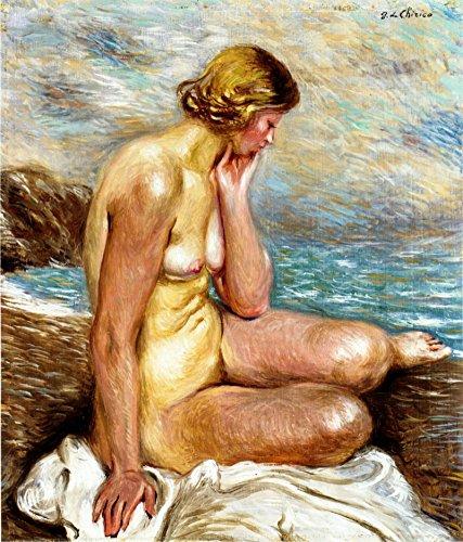 Chirico Giorgio de Desnudo de mujer size 65x50cmt.prees 51x40cmt Ed.200 Moder Lithografic watermark
