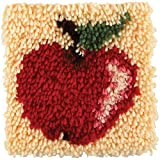 Spinrite Acrylic Blend Wonderart Latch Hook Kit 8 inch x 8 inch Apple