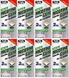 Nicotine Gum 2mg Sugar Free Mint Flavor Generic for Nicorette 50 Pieces per Box Pack of 8 Total 400 Pieces