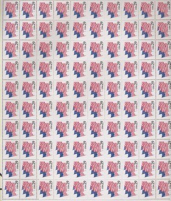 Flags on Parade and Memorial Day Anniv. 100 x 29 cents US Postage Stamps #2531