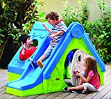 Spielhaus-Kinderspielhaus-mit-Rutsche-und-Tunnel-3in1-fr-drinnen-und-Drauen-Gartenhaus-Kinderhaus-Kinder-Spiel-Haus-Gartenhaus-DF100