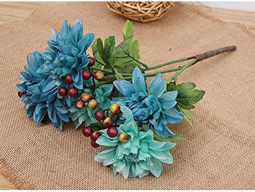 Blue Dahlia Bouquet Of Artificial Flowers Artificial Flower Wedding Supplies (Single Aerosol Can Holder compare prices)