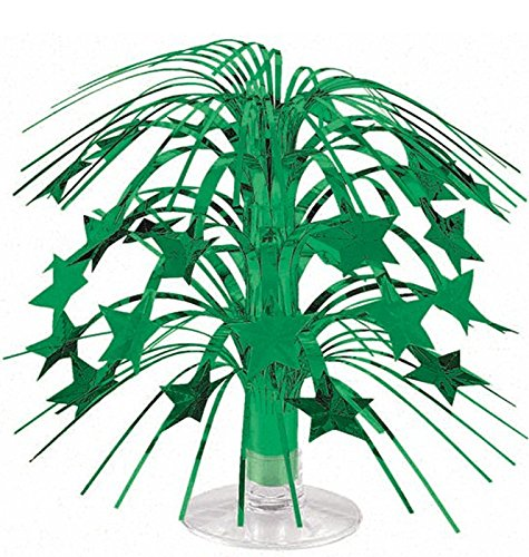 "Amscan Sparkling Star Mini Cascade Centerpiece, 8 1/2"", Green - 1"