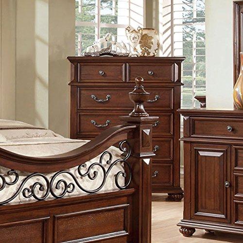 Landaluce Transitional Style Antique Dark Oak Finish Bedroom Chest front-995103