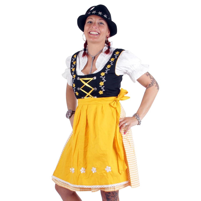 BLACK FOREST Damen Dirndl Trachtenkleid 3 in 1 Maja Yellow günstig