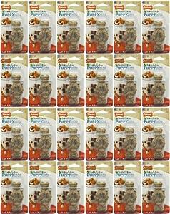 Nylabone Healthy Edible Puppy Lamb & Apple Ring Bone Petite 24pk