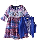 Speechless Little Girls' Print Chiffon Peasant Dress