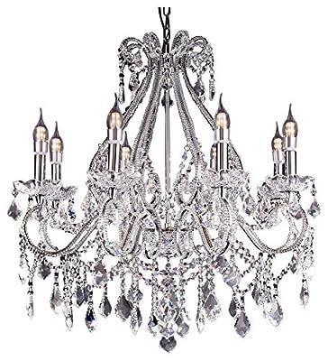 OK Lighting Nola Chandelier Lamp/LED Celling Lamp