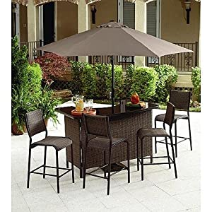Fresh This Patio Furniture Wicker Bar Bundle is the Perfect Accent to Any Backyard Patio Alternative shopping online at your favorite