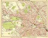 LONDON: Kilburn St John's Wood Maida Vale Bayswater Notting Hill, 1921 old map