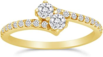 Sk Jewel Inc 1/2ctw Diamond 10k Ring