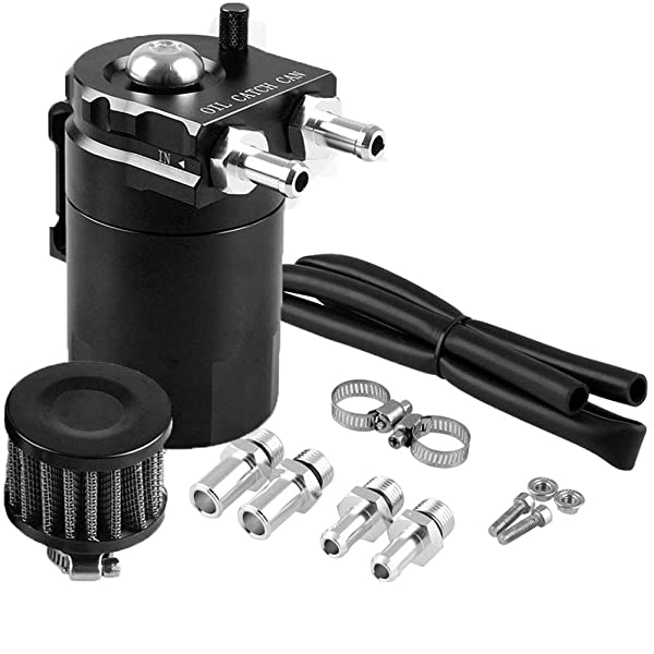 Filter Kit Cylinder Aluminum Engine New Oil Catch Reservoir Breather Can Tank
