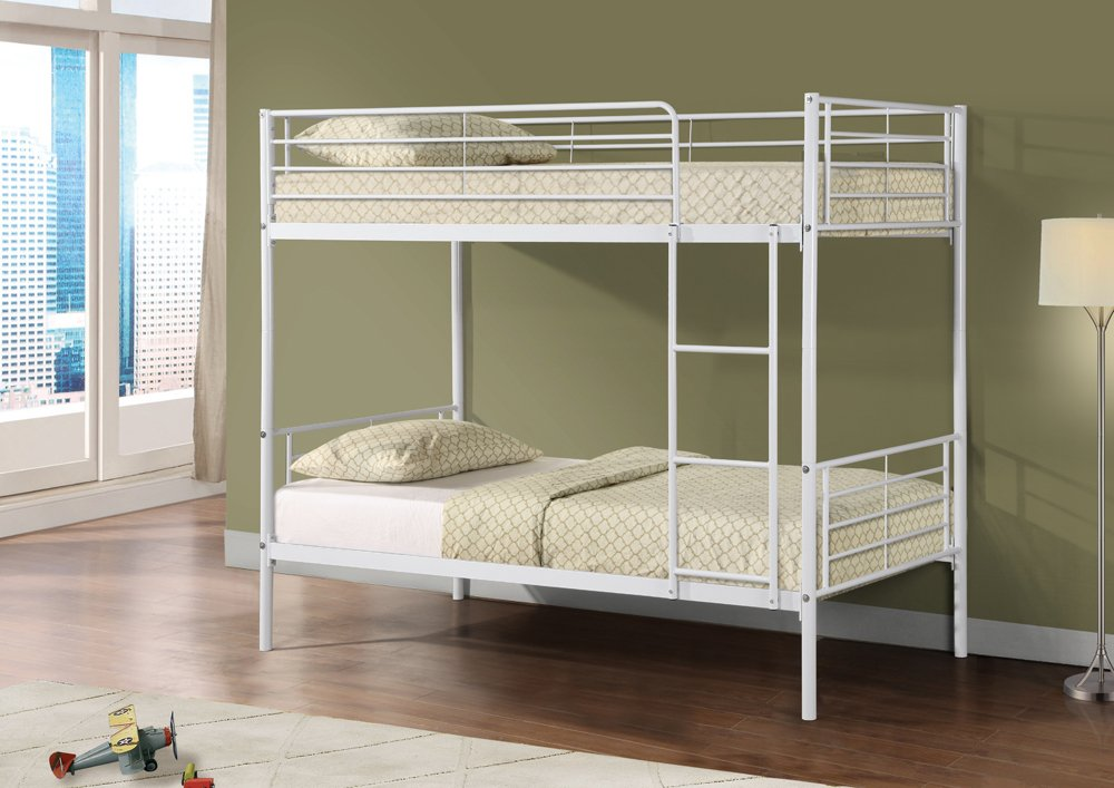 Bunk Bed Metal Frame Children&'s 3ft Single Available in White       Customer reviews and more description
