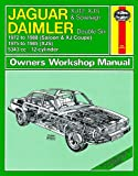 Haynes Garage Quality Car Repair Manual/Book For Jaguar XJ12, XJS & Sovereign; Daimler Double Six (72 - 88) up to F Including a De-Mister Pad and 1 Car Air Freshner.