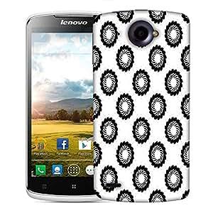 Snoogg Black Chakra Designer Protective Phone Back Case Cover For Lenovo S920