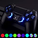 eXtremeRate Multi-Colors Luminated D-pad Thumbsticks Face Buttons (DTF) LED Kit for PS4 Controller 7 Colors 9 Modes Touch Control with Classical Symbols Buttons (Color: PS4 DTF LED Kit (B))