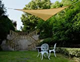 Cool Area Right Triangle 165 X 165 X 2211 Shade Sail with Hardware Kit, Sand, furniture
