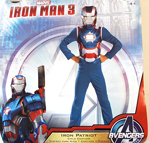 Iron Man 3 Blue Iron Patriot Child Costume Small 6 NIP