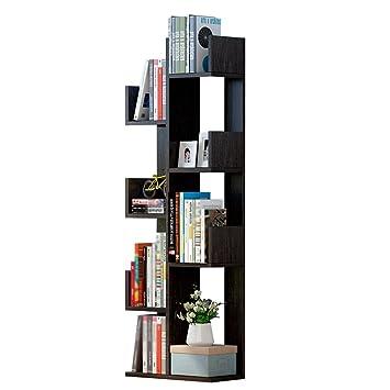 QIANGDA Libreria Scaffale Per 8 Livelli Rastrelliera Più Spessa Scaffale Delle Merci Impermeabile Resistente Ai Graffi, 48 X 20 X 145 Cm, 4 Colori Opzionale ( Colore : Nero )